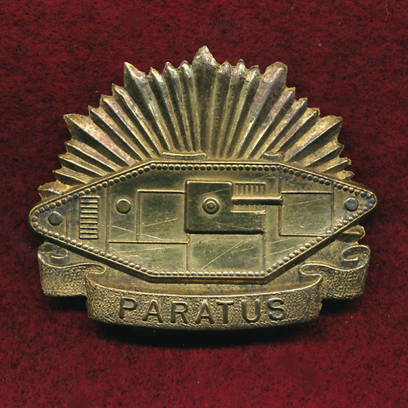 Aust Tank Corps Hat Badge 1930-42 Brass