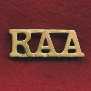 Shoulder Title - RAA - metal