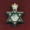 Hat / Collar Badge - RAAChD - Jewish Chaplain  1960-85
