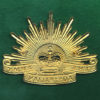"Hat Badge - G.S Rising Sun ""ARMY"" (BriteShine)"