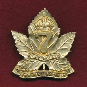 7 INF BN Hat Badge (Brass) 1930-42