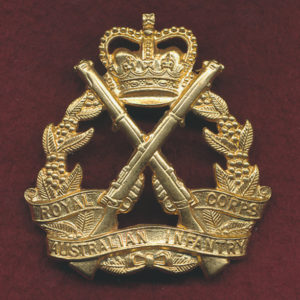 RA INF - Hat Badge (53/60) (S&H)