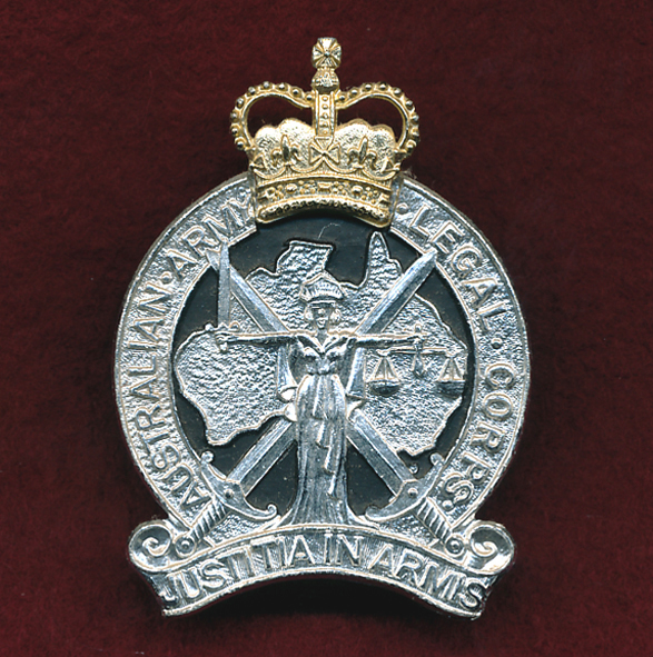 Hat Badge - Legal Corps  1980s