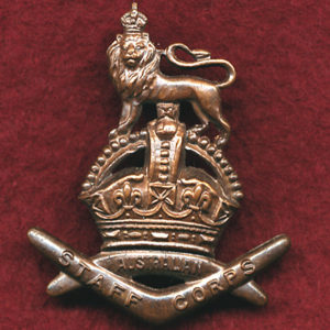 Cap Badge - Staff Corps