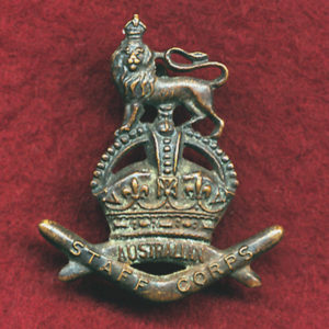 Collar Badge - Staff Corps (w/left)