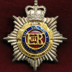 Hat Badge - RAASC (Officers)  (53/60)