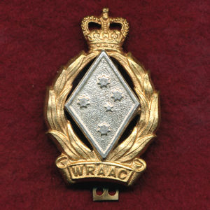 Cap Badge w/slider attachment - WRAAC (53-60)