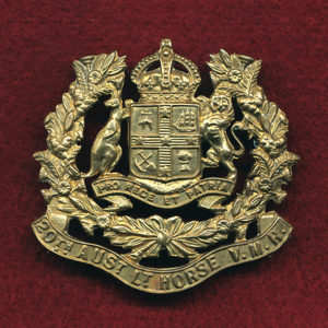 20 LH Regt - Hat Badge (VMR)
