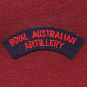 Shoulder Title - RAA - Embroidered(u/b)
