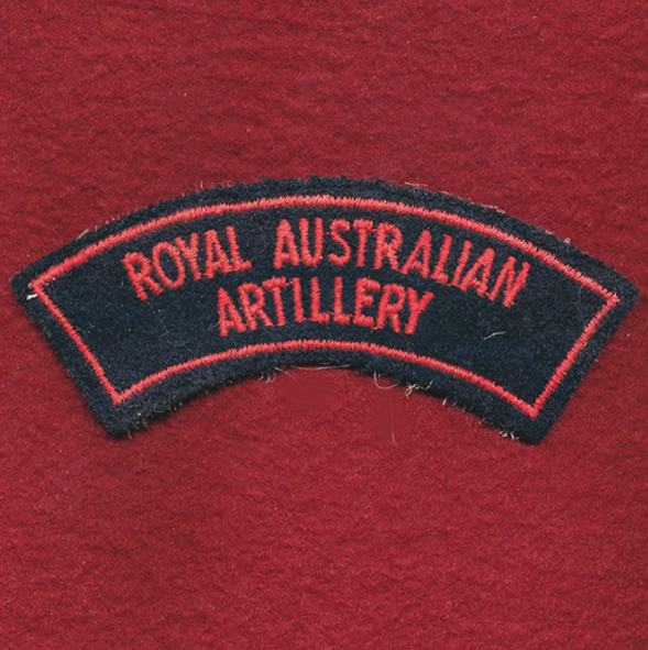 Shoulder Title - RAA - Embroidered (b)