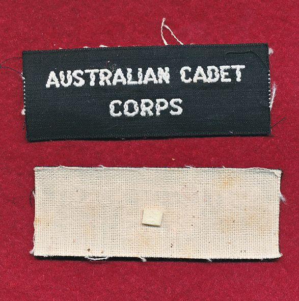 Cadet Corps Title  (x1)
