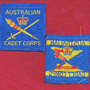 CADET  Corps Shoulder Title (x1)