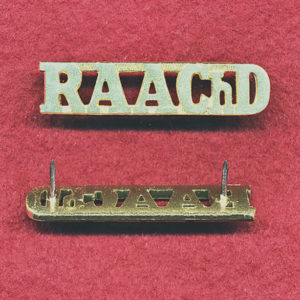 Shoulder Title - RAAChD (A/A)