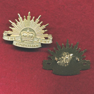Collar Badge - G.S. Rising Sun  (A/A) (x1)