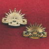 Collar Badge - G.S. Rising Sun (AMF) (Swann & Hudson)