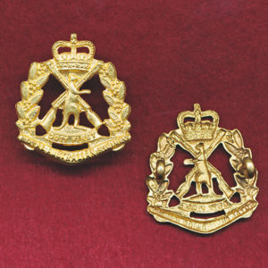 RAR Collar Badge - 1st Pattern 53-64 era (w/R)