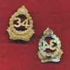 34 INF BN Collar Badge  (30/42)