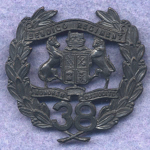 38 INF BN Hat Badge  (30/42)  (Oxy)