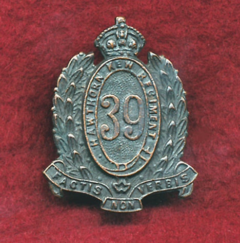 39 INF BN Collar Badge (Hawthorn-Kew) (Oxy)