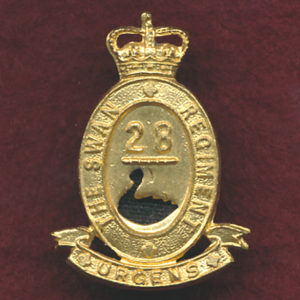 28 INF BN Collar Badge (Swan Regt)  (53/60)
