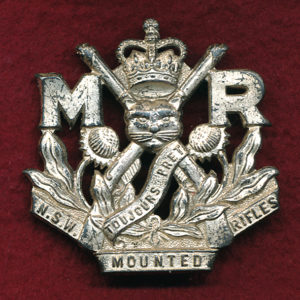6th NSW MTD Rifles - Hat Badge  (53/60)