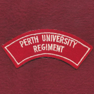 Perth University Regiment Shoulder Title