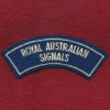 Shoulder Title - RA SIGS  - (B)