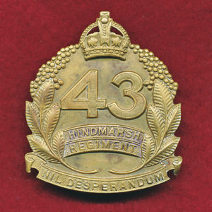 43 INF BN Hat Badge (Hindmarsh Regt)