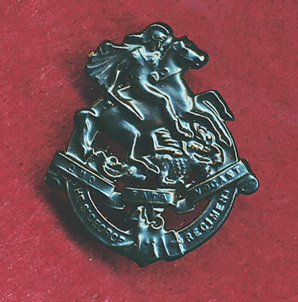 45 INF BN Collar Badge (Oxy) (30/42)  (w/R)