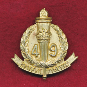49 INF BN  Hat Badge  (Non-void)  (30/42)