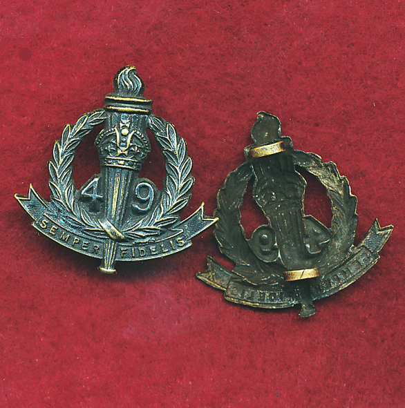 49 INF BN Collar Badge  (30/42)  (Oxy)