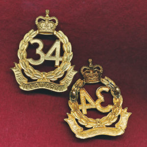 34 INF BN  Hat Badge (Illawarra)  (53/60)