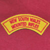 NSW Mounted Rifles Embroidered Title ( 48/60)