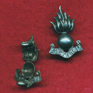 Collar Badge - Australian Engineers  (Oxy)