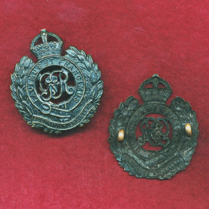 Hat Badge - Australian Engineers  (Oxy) (KGV)