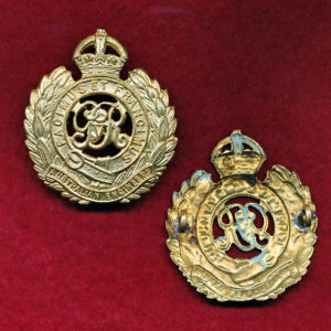 Hat Badge - Australian Engineers  (Brass) (KGV)