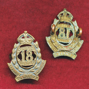 18 INF BN Collar Badge (OFFICERS)  (30/42)