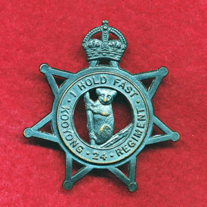 24 INF BN Hat Badge  (Kooyong Regt) (Oxy)