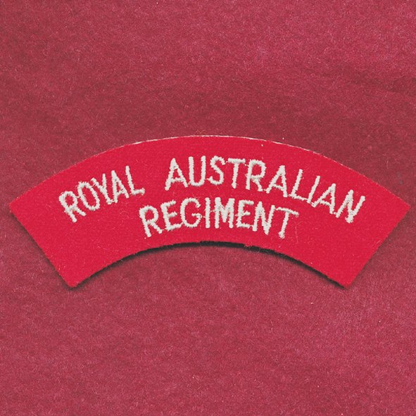 RAR Embroidered Shoulder Title  (u/b)