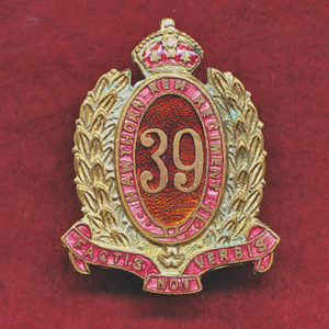 39 INF BN Collar Badge (Hawthorn-KewRegt)  (30/42)
