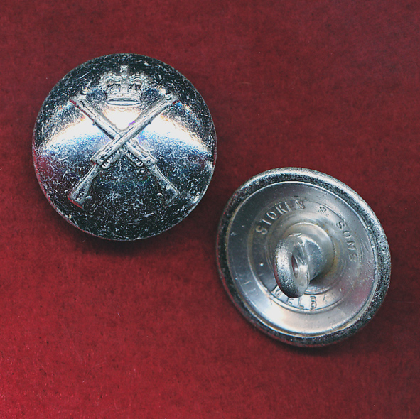 RA INF - Button (L)  ( Silver finish)
