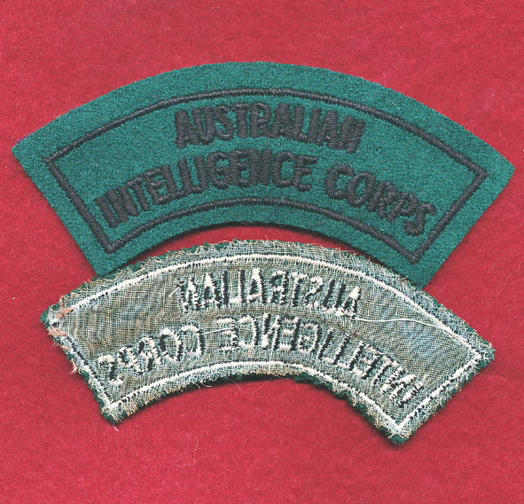 Embroidered Shoulder Title (B) - Aust Int Corps