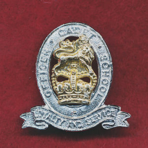Collar Badge - OCS - Officer Cadet School  (w/right) (60/85)
