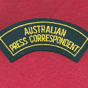 AUST. Press Correspondent Shoulder Title