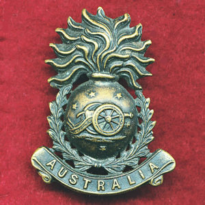 Collar Badge - Australian Field Artillery (Militia)