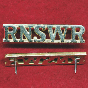 RNSWR Shoulder Title