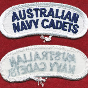 "Navy Cadets - ""Australian Navy Cadets""  tab - (Blue/White)"