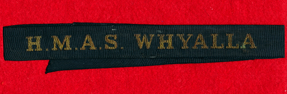 HMAS WHYALLA Tally Band