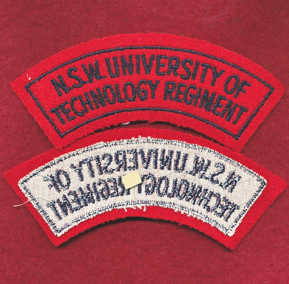 NSW UNI TECH Regt - Shoulder Title (B) (#1)