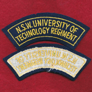 NSW UNI TECH Regt - Shoulder Title (B)